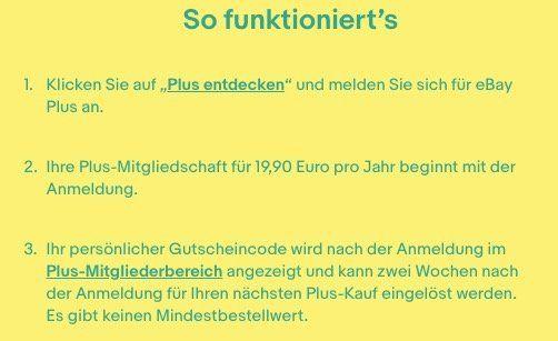 Knaller! eBay Plus Mitglied für 19,90€ werden und 30€ Gutschein gratis erhalten