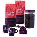 Abgelaufen! 2kg Altezza Slow Roast & 2kg Segafredo Bohnen + 2 Kaffeetassen + Vorratsbehälter + Untersetzer für 39,99€