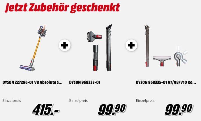 Dyson V8 Absolute + Autopflege  und Komplettpflege Set für 415€ (statt 485€)