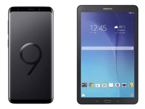 Samsung Galaxy S9 für 49€ + gratis Samsung Galaxy Tab E 9.6 + Vodafone Allnet Flat mit 8GB *Highspeed* für 34,99€ mtl.