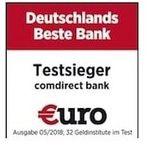 Comdirect: kostenloses Girokonto mit 100€ Prämie + 24 Monate je 2€ Gutschrift
