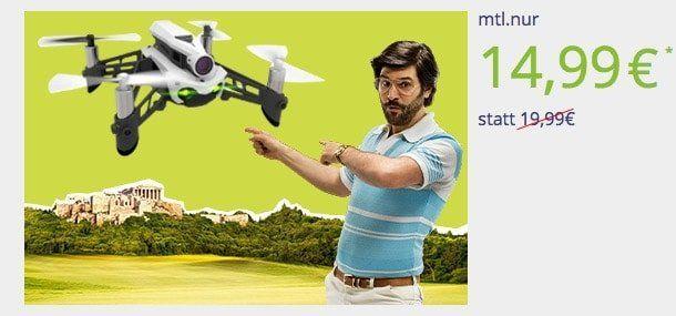 o2 my Data M mit 10GB LTE für 14,99€ mtl. + gratis Parrot Mambo FPV Drohne (Wert 135€)
