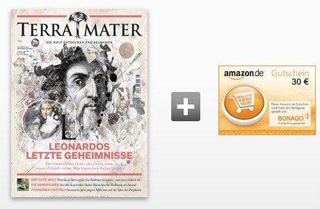 TOP! 6 Ausgaben Terra Mater für 39€ inkl. 30€ Verrechnungsscheck oder Amazon Gutschein