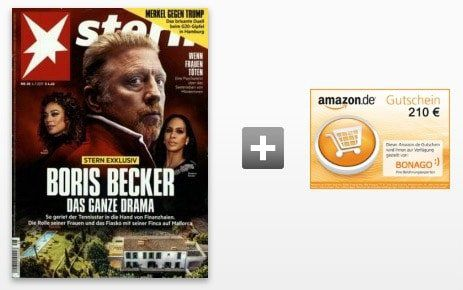 Knaller! Der Stern   Jahresabo für 244,40€ inkl. 210€ Amazon Gutschein