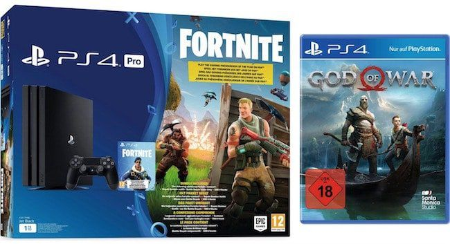 PlayStation 4 Pro 1TB + God of War + Fortnite für 385,94€ (statt 439€)