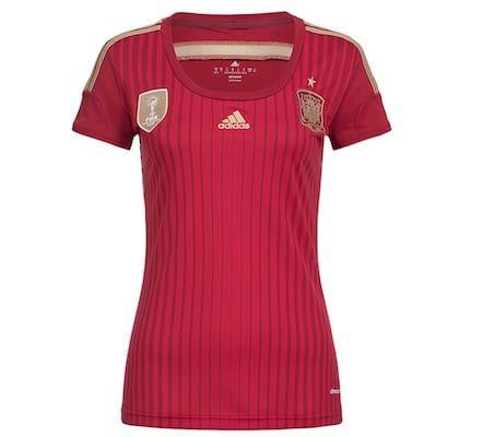 adidas Spanien Damen Heimtrikot für 7,28€ (statt 17€)