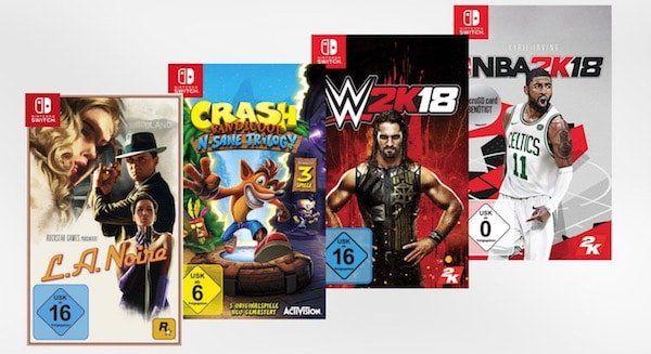 4er Pack Nintendo Switch Game Bundle für 69,99€ (statt 84€)