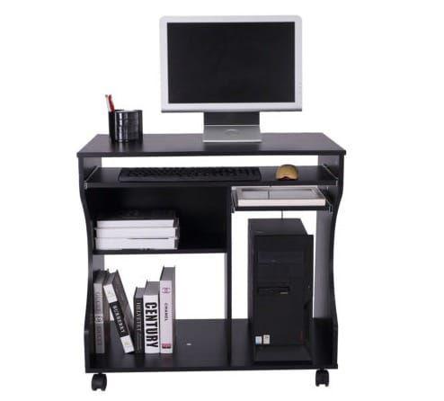 HOMCOM Computertisch mit Rollen für 33,99€(statt 50€)