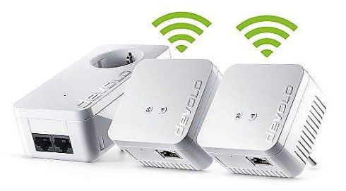 devolo dLAN 550 WiFi Network Kit mit 3 Adapter + CAT6 Kabel für 99€ (statt 129€)