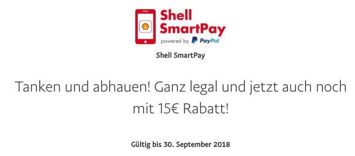 Vorbei! Gratis Benzin oder Diesel für 15€ dank Paypal Gutschein via Shell SmartPay