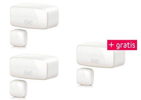 Ausverkauft! 3er Pack Eve Door & Window Tür /Fensterkontaktsensor für nur 71,95€ (statt 96€)