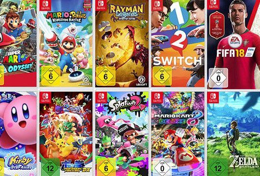 Media Markt: 3 Nintendo Switch Spiele für 111€   z.B. Mario Odyssey + New Super Mario Bros U: Deluxe + Mario Party (statt 143€)