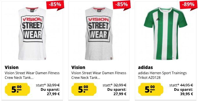 Knaller! Über 500 Artikel für je 5€ (adidas, Jako, Puma, ...) zzgl. VSK bei SportSpar