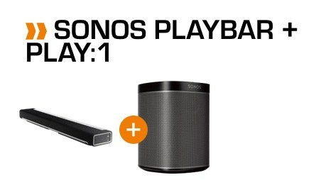 Sonos Playbar WLAN Soundbar für 699€ + gratis Sonos Play:1 (Wert 172€)