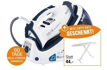 Tefal Dampfbügelstation GV8461 + Tefal Bügelbrett für 179€ (statt 240€)