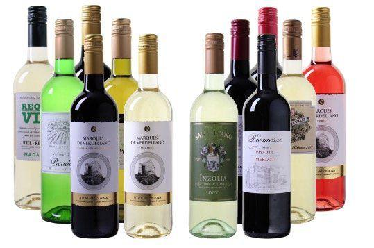 12 Flaschen Wein Welt Reise für 39,94€