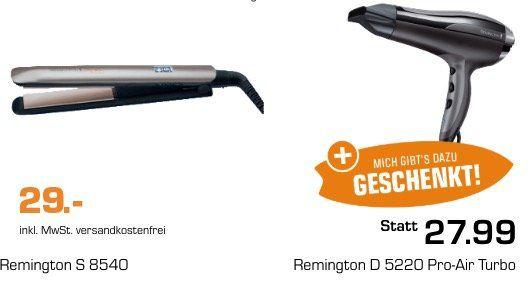 Vorbei! Remington Haarglätter S 8540 + Remington Haartrockner D 5220 Pro Air für 29€ (statt 56€)