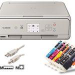 Canon Pixma TS5053 Tintenstrahl-Drucker mit 5 kompatiblen Patronen für 52,90€ (statt 74€)