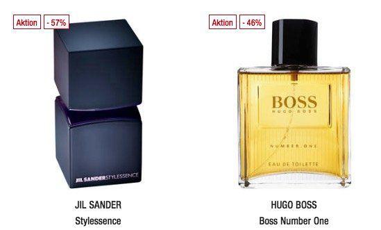 Bis Mitternacht: 20% Rabatt auf Parfum bei Galeria Kaufhof   z.B. Hugo Boss Number One EdT 125 ml ab 31,99€ (statt 40€)
