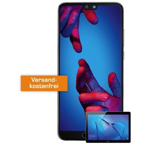 Huawei P20 + Huawei Mediapad T3 10 LTE Tablet für 29€ + Vodafone Flat mit 1GB für 26,99€ mtl.