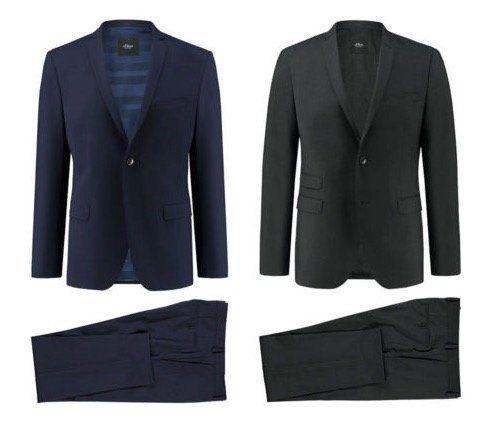 s.Oliver Anzug Cosimo Flex oder Cesano Slim in Slim Fit für 99,90€