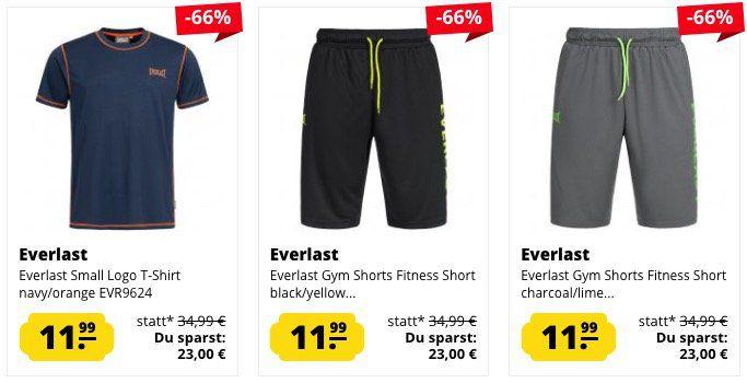 Everlast Sale bei SportSpar   z.B. T Shirts ab je 4,44€