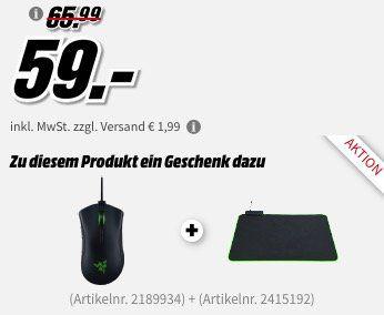 RAZER Deathadder Elite Gaming Maus für 60,99€ + gratis RAZER Goliathus Chroma Mauspad