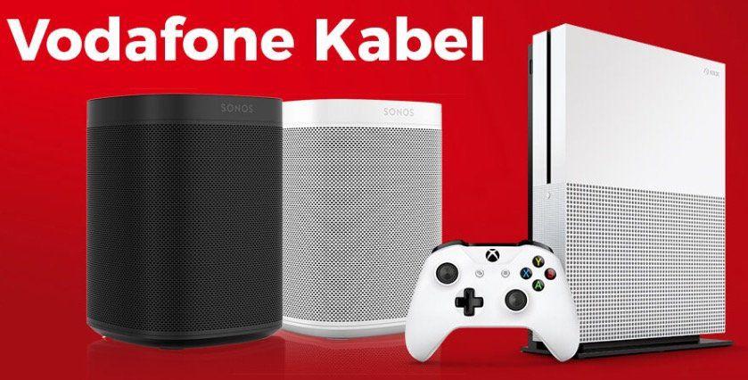 Vodafone Kabel Angebote bei Handyflash   z.B. Red Internet & Phone 200 ab 16,03€ mtl. + Sonos One nur 4,95€