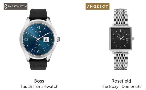 Nur noch heute! Christ Sale + 20% auf ALLES im Sale   z.B. Hugo Boss Touch Smartwatch für 255,92€ (statt 320€)