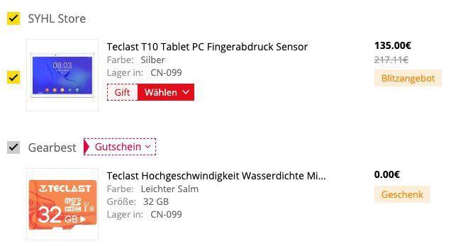 Teclast Master T10   Tablet mit Fingerprint Sensor für 135€ (statt 157€) + gratis 32GB Speicherkarte