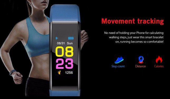 ID115PLUS Fitnesstracker mit Herzfrequenzsensor für 5,80€