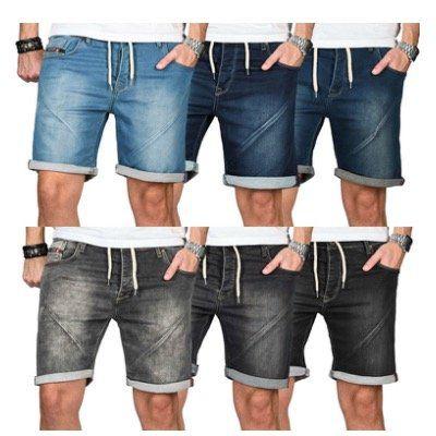 A. Salvarini Herren Jeans Bermuda Shorts unterschiedliche Modelle für je 24,90€