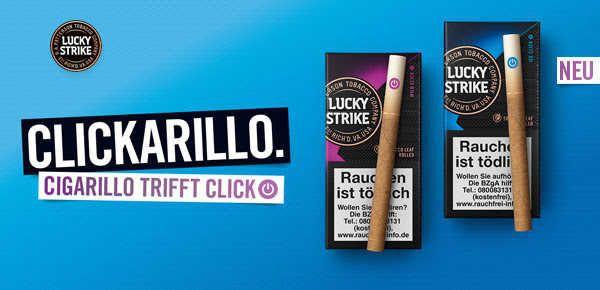Probierpackung Lucky Strike Clickarillos kostenlos anfordern