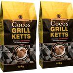 20kg ökologische Grillkohle-Briketts aus Kokosnussschalen für 27,99€