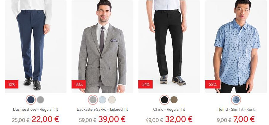 C&A Mid Season Sale bis zu 70% Rabatt + 10% NL Gutschein