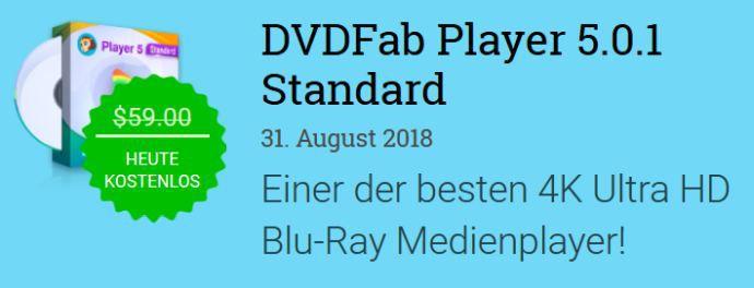 DVDFab Player 5 (Vollversion, Windows) gratis