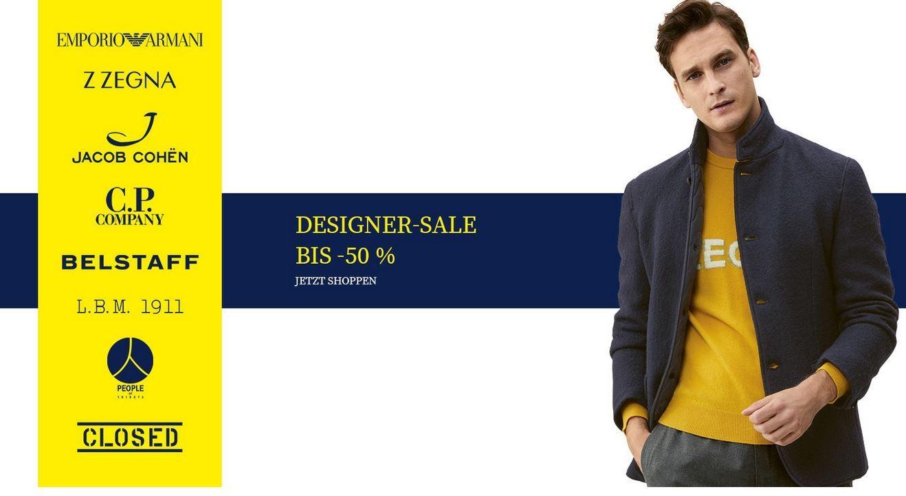 TOP! Hirmer: Designer Sale bis 50% Rabatt   z.B. Hilfiger Poloshirts ab 19€