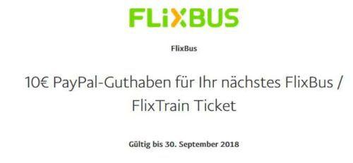 Top! 10€ Flixbus Paypal Gutschein   Tickets für lau