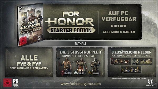 For Honor Starter Edition (Steam) gratis   nur vom 22.   27. August