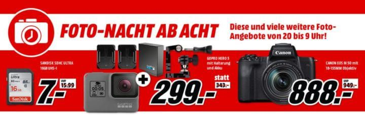 Media Markt Foto Late Night: z.B. CANON EOS M50 Kit für 888€