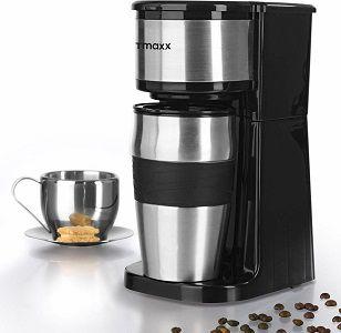 GOURMETmaxx Togo   Edelstahl Single Kaffeemaschine inklusive Thermobecher für 23,90€ (statt 30€)