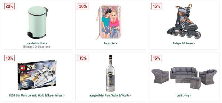 Galeria Kaufhof Sonntagsangebote   15% Rabatt auf ausgewählten Rum, Vodka & Tequila   20% auf Herrenschuhe, Uhren & Schmuck uvam