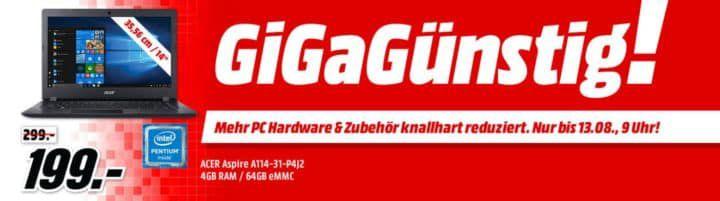 Media Markt GiGaGünstig Sale: PC Hardware & Zubehör reduziert   z.B. LOGITECH G300S Gaming Maus für 25€