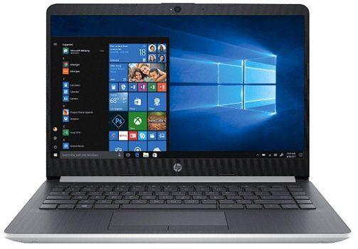 HP 14 ma0302ng 14 Notebook mit Celeron, 4GB RAM, 128GB SSD in silber für 333€ (statt 439€)