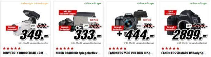 Media Markt Foto Weekend: günstige Kameras und Zubehör