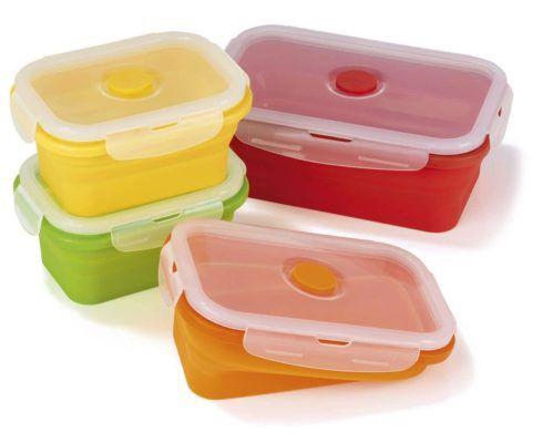 GOURMETmaxx Klick it Frischhaltedosen faltbar 8 tlg für 17,99€