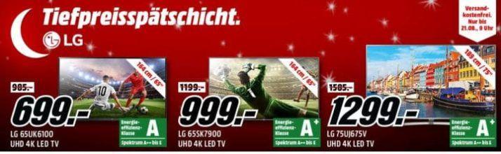 Media Markt LG Tiefpreisspätschicht   günstige TVs und Monitore