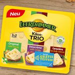 Leerdamer Käse-Trio gratis testen dank Geld zurück Garantie