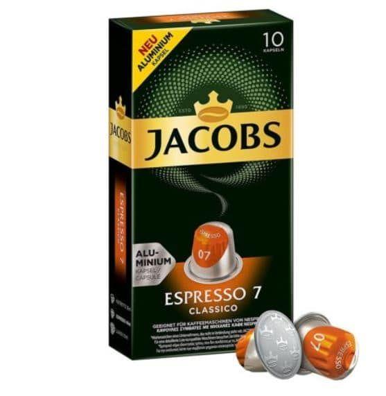 JACOBS Espresso Classico   100 Alu Nespresso Kapseln für 19,90€