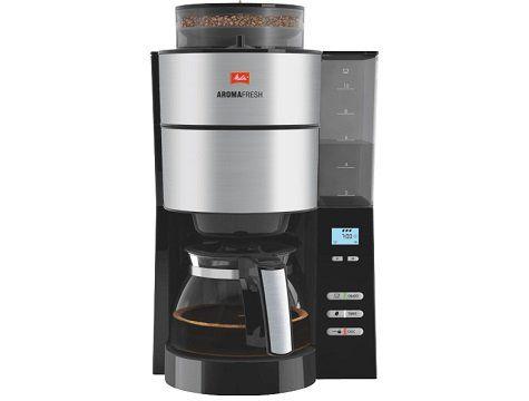 MELITTA 1021 01 AromaFresh Kaffeefiltermaschine in Schwarz/Edelstahl für 89€ (statt 108€)